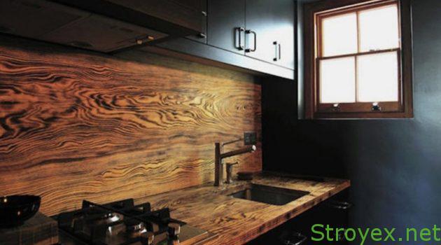 Кухонный фартук дерево
