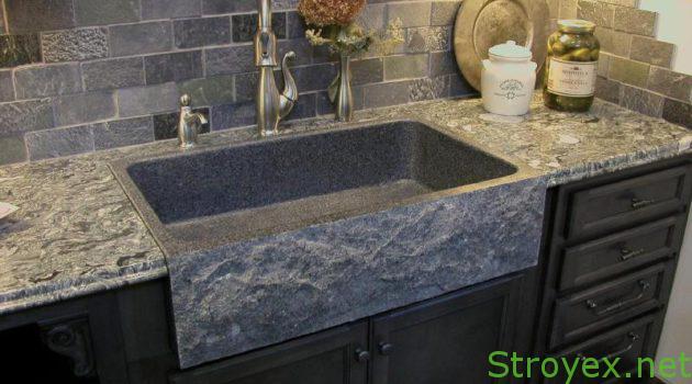 Кухонный фартук камень