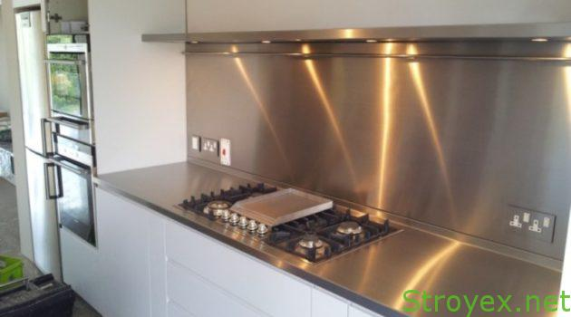 Кухонный фартук металл